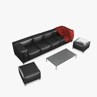 delano sofa 3d max