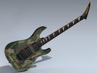 lightwave jackson dinky reverse guitar
