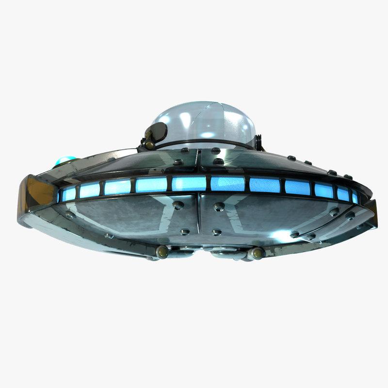 3d model cartoon ufo