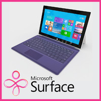 microsoft surface 2 keyboard 3d model