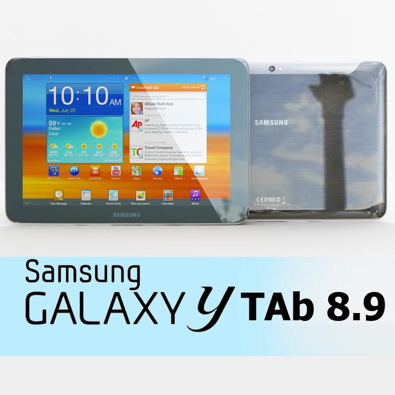 3d samsung galaxy tab 8 model