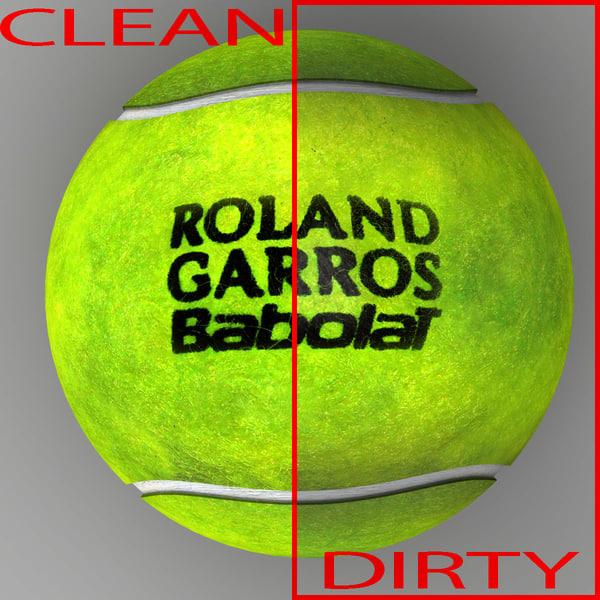 3d tennis ball roland model