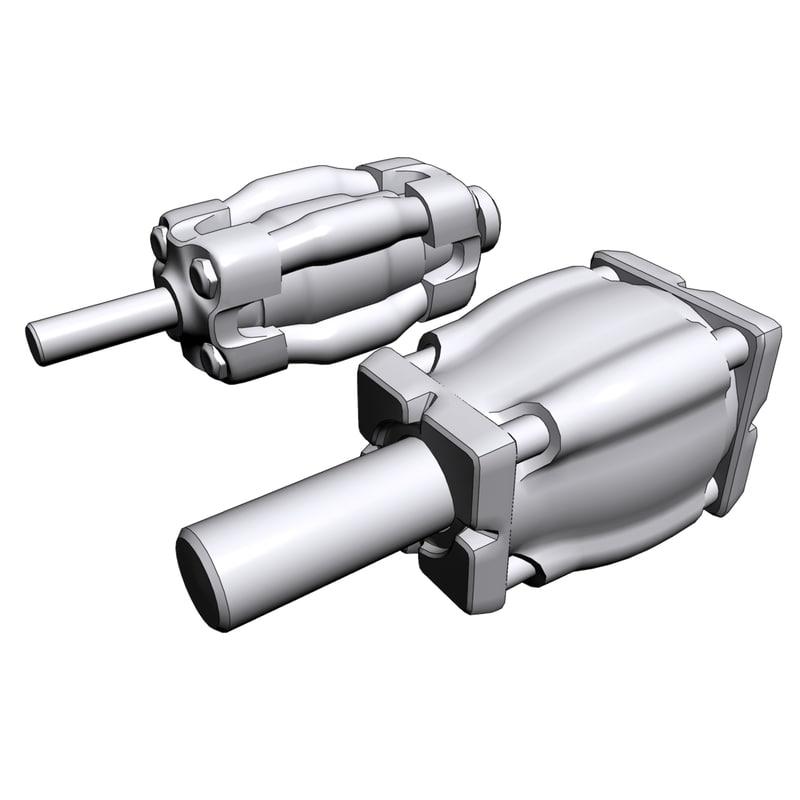 3d model of design pumps