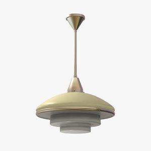 3d model classic ceiling lamp megaphos