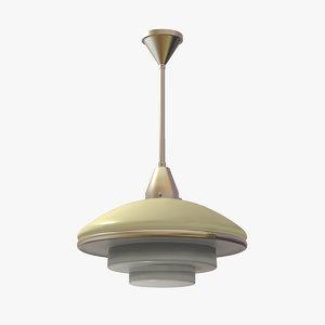 3d model classic ceiling lamp megaphos