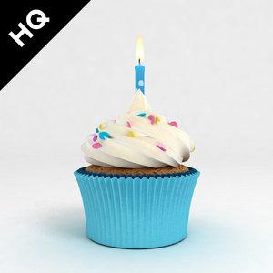 cupcake candle 3d max