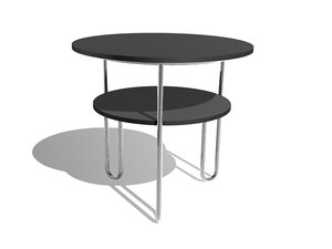 3d model breuer wood end table
