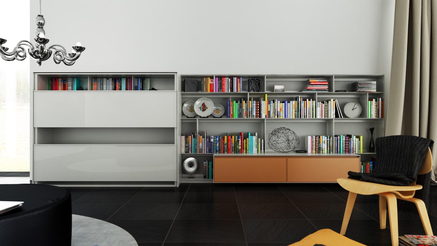 cinema4d b bookcase 17 -