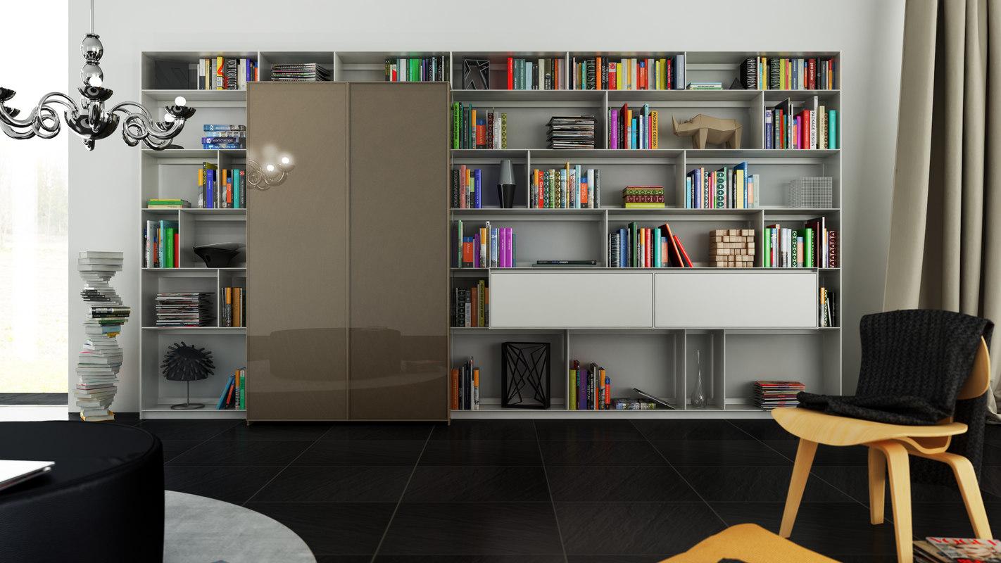 3d b bookcase 18 -