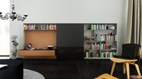 3d b bookcase 20 -