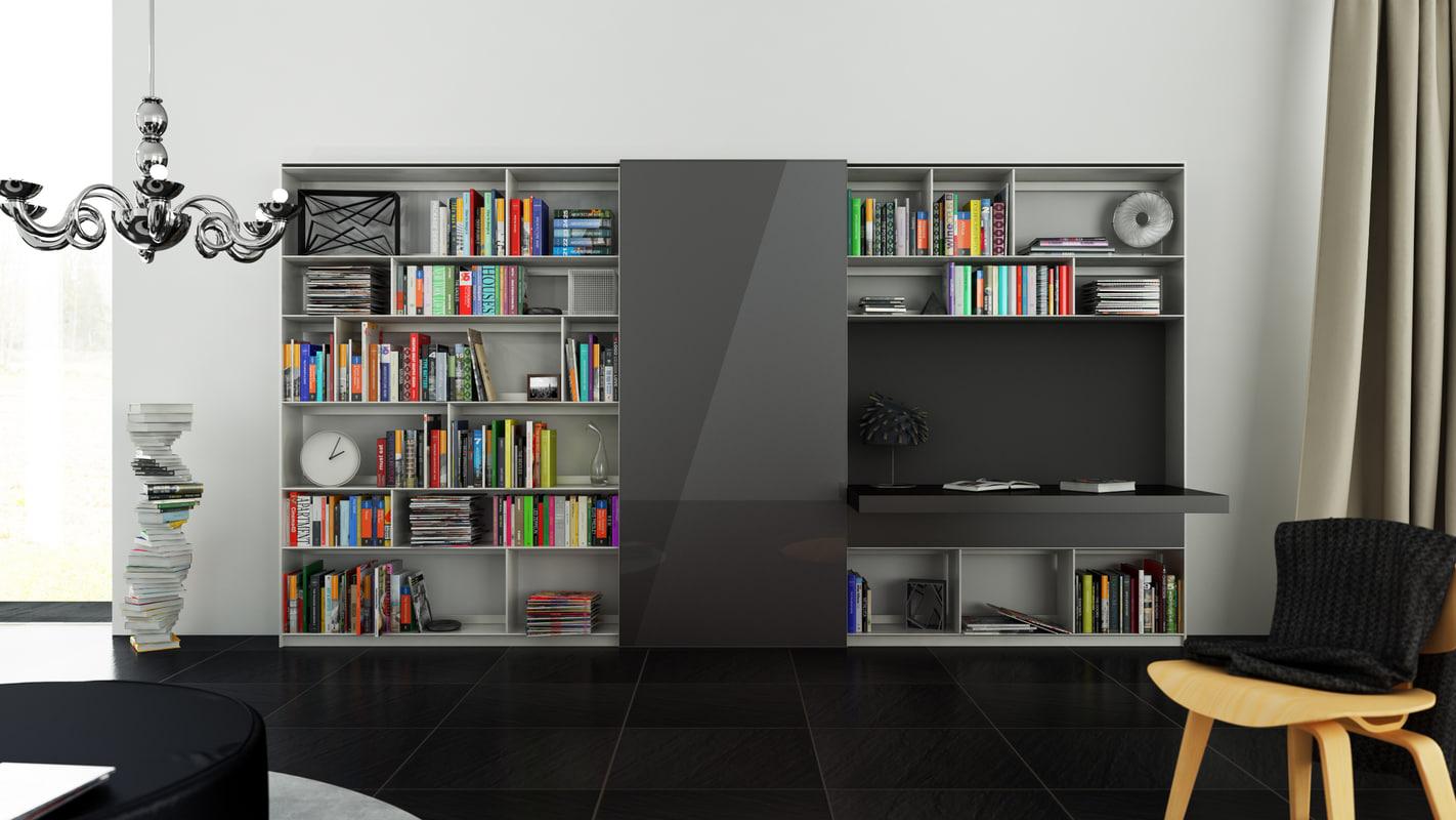 b bookcase 21 - 3d model