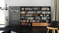 b bookcase 22 - 3d c4d