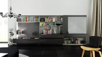 c4d b bookcase 24 -