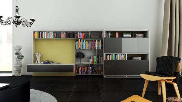 3d b bookcase 16 -