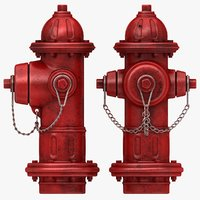 3d model hydrant old