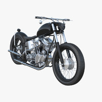 custom motorcycle 3d max