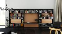 3d c4d b bookcase 25 -