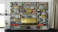 3d b bookcase 26 - model
