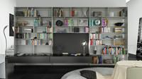 3d b bookcase 27 -