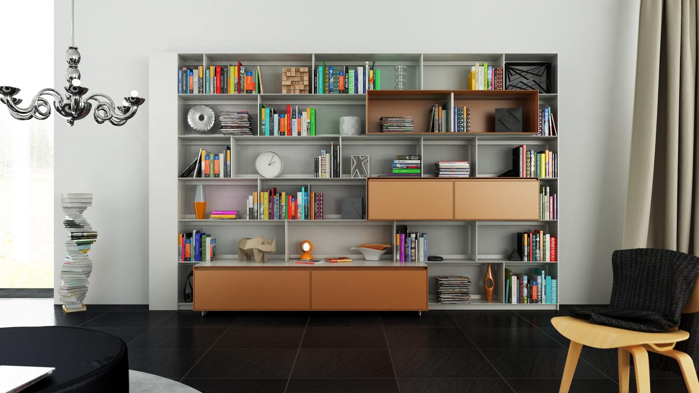 b bookcase 28 - 3d model