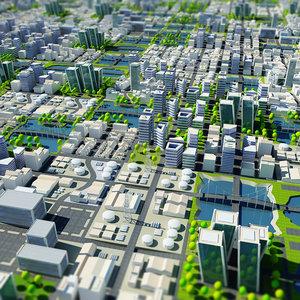 3d tile-able cityscape