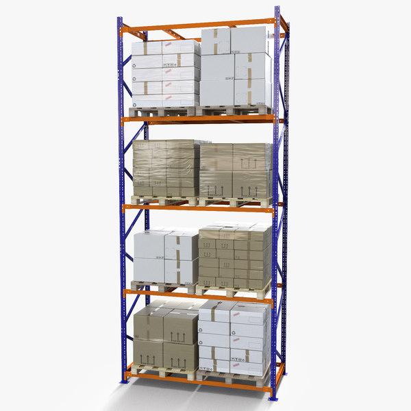 3d rack box cardboard pallet