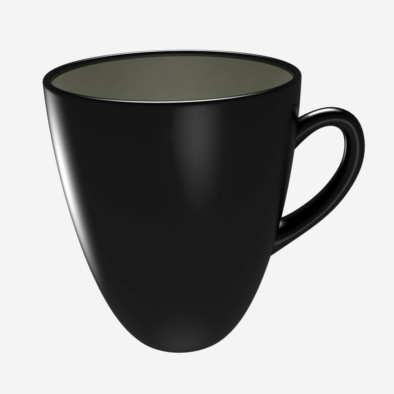 max tea cup ceramic black