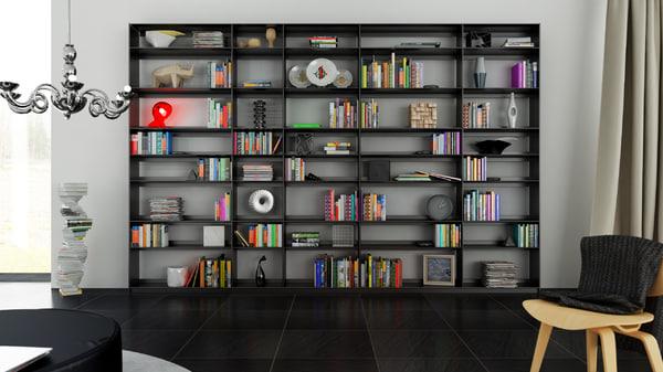 3d b bookcase 30 -