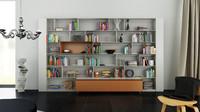 b bookcase 31 - 3d c4d