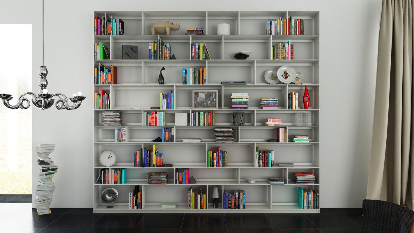 b bookcase 32 - 3d c4d