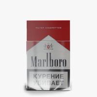 marlboro cigarettes pack 3d obj