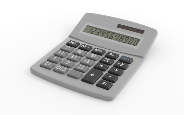3d model digital calculator calc