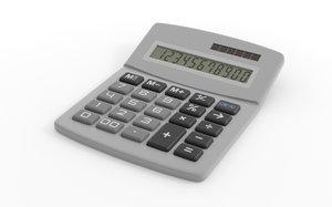 3d model digital calculator calc
