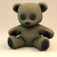 3d model teddy bear little