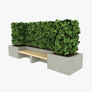 3ds max concrete bench