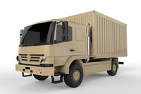 atego military truck fbx