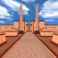 luxor temple 3d model