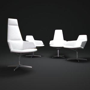 aston-direction-swivel-armchair 3d obj