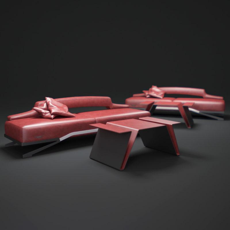3ds max aston-martin-sofa