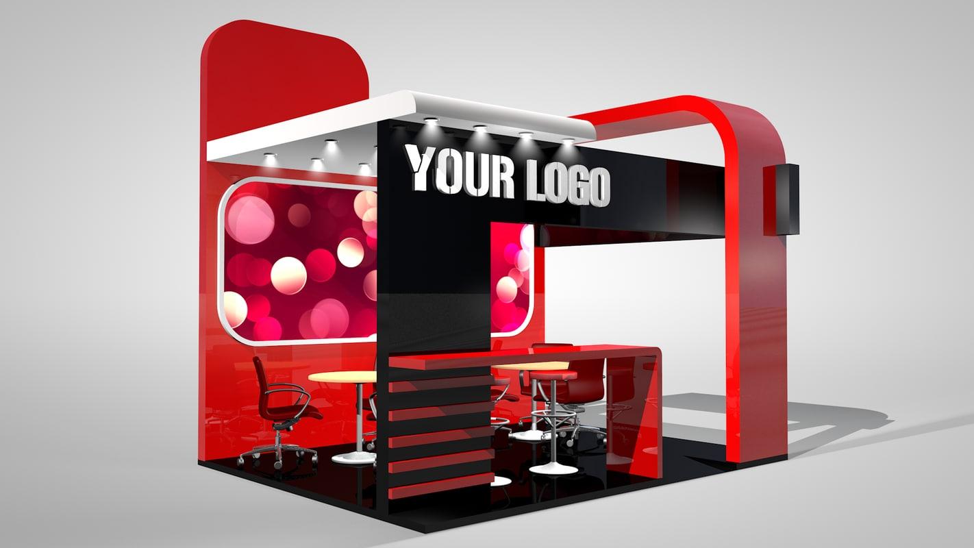 exhibition stand 3d c4d