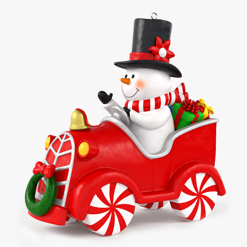 snow man snowman 3d max