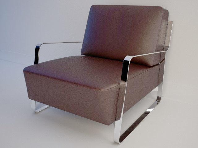 3d armchair leather orsenigo fujiyama model