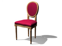 louis xvi chair 3d model