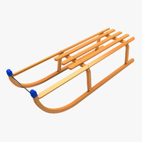 sledge sled 3d 3ds