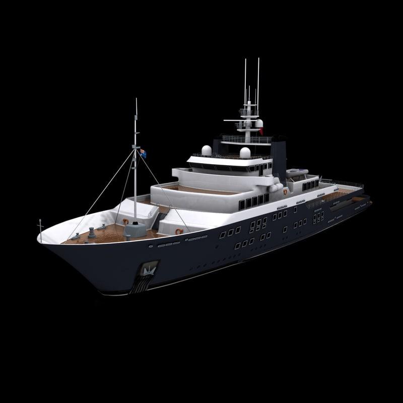 3d model derecktor m yacht