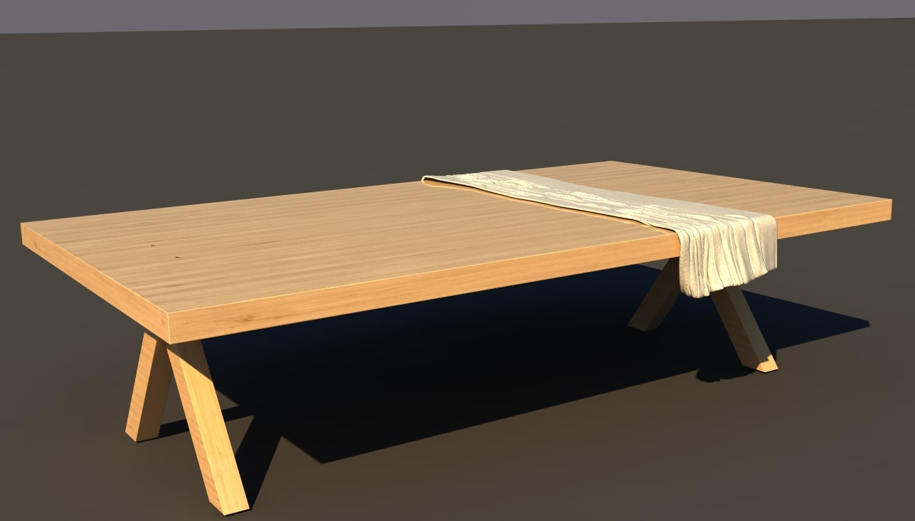 3d table cloth model