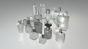 3d perfume bottles pack