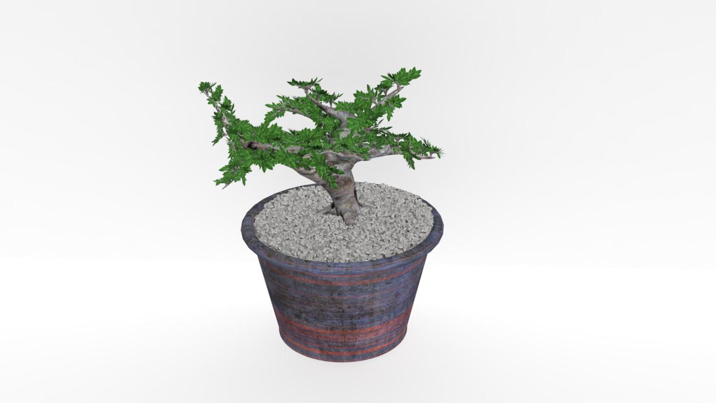 3ds max bonsai tree
