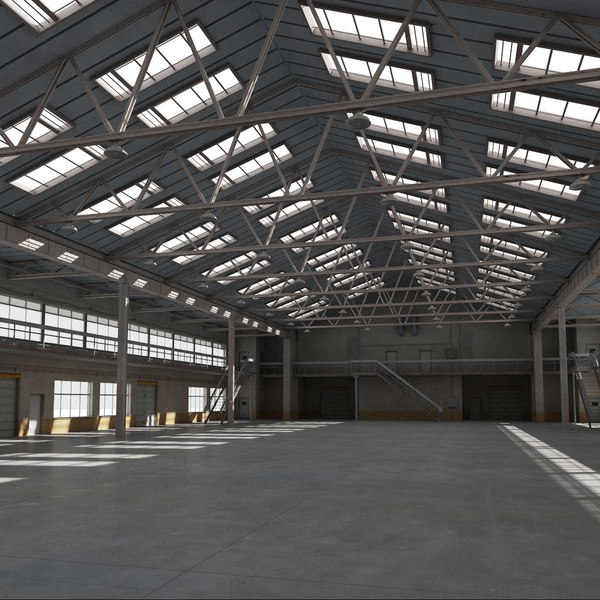 3d model warehouse interior exterior scene