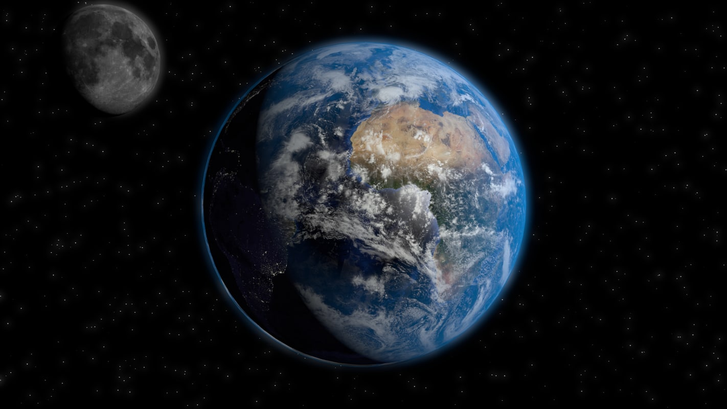 3d model of space earth